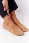 Women's Suede Loafers Lu Boo Camel